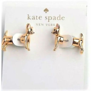 KATE SPADE GoldPlate Chihuahua Ear Jacket Earrings